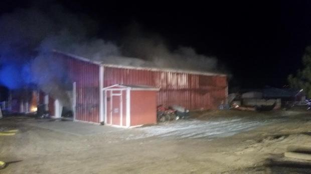 Barn fire Dec. 13, 2016.