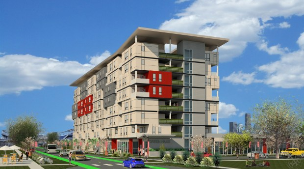 A rendering of Sun Valley Phase 1 Housing.