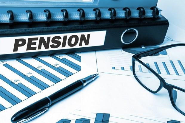 pension on document folder