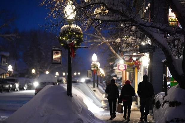 The downtown area is scenic and idyllic with the freshly fallen snow on January 11, 2017 in Crested Butte, Colorado. Downtown Crested Butte has been inundated with more than 100 inches of snow in the past days. More snow is expected in the upcoming days. Helen H. Richardson, The Denver Post