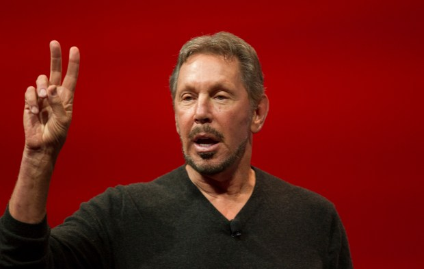 Oracle co-founder Larry Ellison delivers the keynote address during the annual Oracle OpenWorld conference on September 30, 2014 in San Francisco, California. The conference runs through October 2.