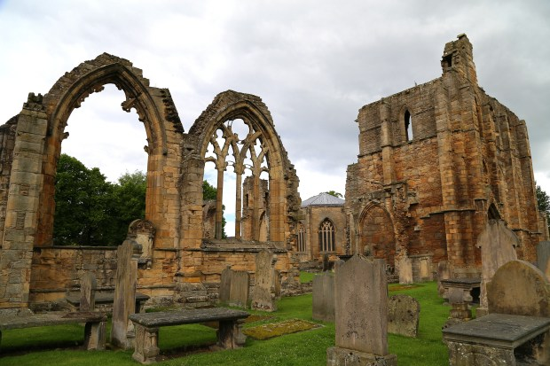 The ruins of Elgin Cathedral still impress -- especially the 13th-century west front -- in Elgin, in Scotland's Speyside region. The cathedral is across the street from Johnstons of Elgin, maker of fine cashmere.