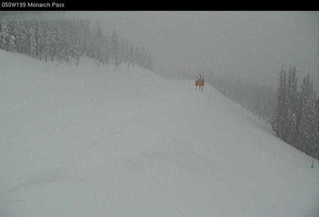A photo from a Colorado Department of Transportation camera shows Monarch Pass as of 8:15 a.m. on Tuesday, Jan. 10, 2016.