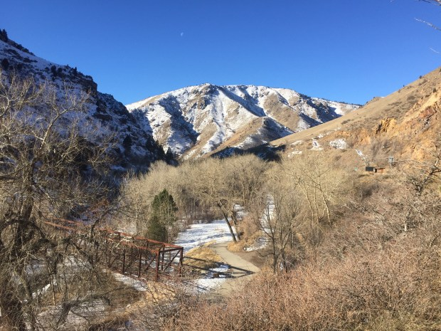 A view of the mouth of Clear Creek Canyon