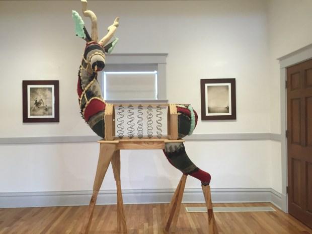 """Artist Bryan Christensen made """"Gazelle"""" from a deconstructed sofa."""