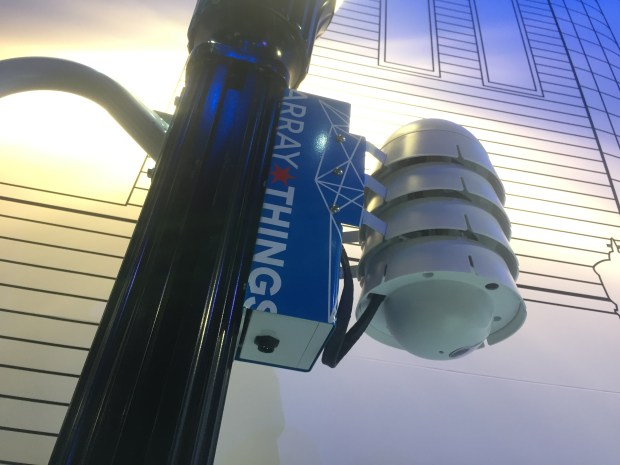 """Peña Station Next is getting an environmental sensor developed by Argonne National Laboratory.. Dubbed """"the Fitbit for cities,"""" this device monitors air particles, solar cloud coverage, noise, temperature and humidity."""