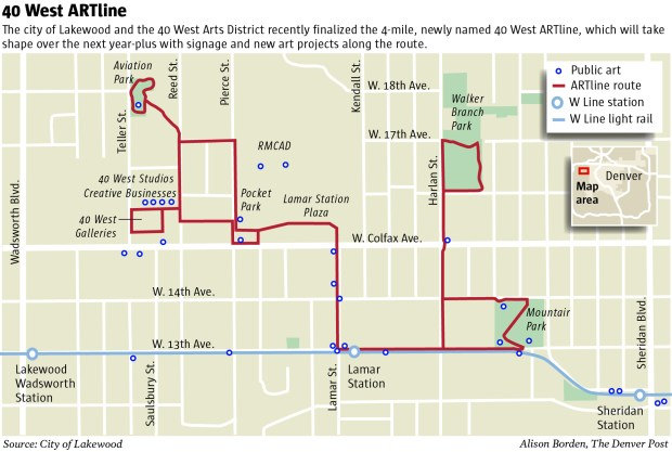 The city of Lakewood and the 40 West Arts District recently finalized the 4-mile, newly named 40 West ARTLine, which will take place over the next year-plus, with signage and new arts projects along the route.