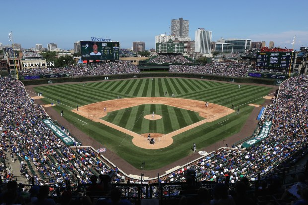 A general view of Wrigley Field