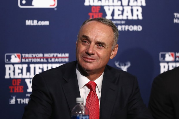 MLB Commissioner Rob Manfred attends a