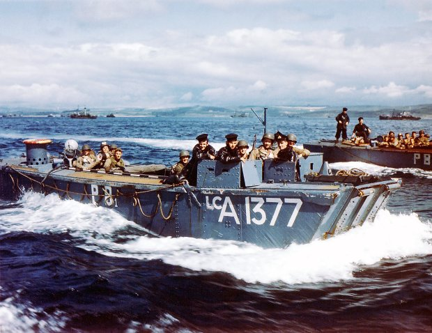 D-Day in color: Photographs from the invasion of Normandy in