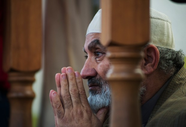 Imam Hamdi Basha looks on before leading a prayer during an open house Saturday, Feb. 18, 2017 at the Denver Islamic Society. About 700 people attended to learn, ask questions, and observe a prayer.
