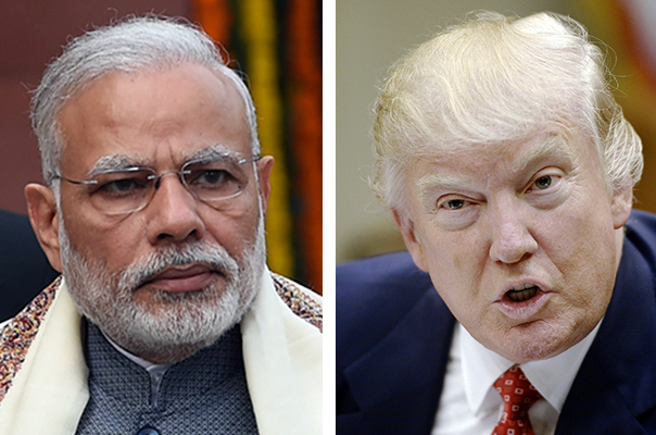Indian Prime Minister Narendra Modi, left, and U.S. President Donald Trump.