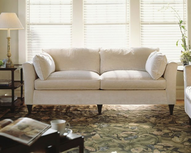 "Baker Furniture's Madison sofa ""is an heirloom piece,"" Boudreaux says (from $10,380, bakerfurniture.com). ""It is handcrafted in the U.S. with first-rate materials."""