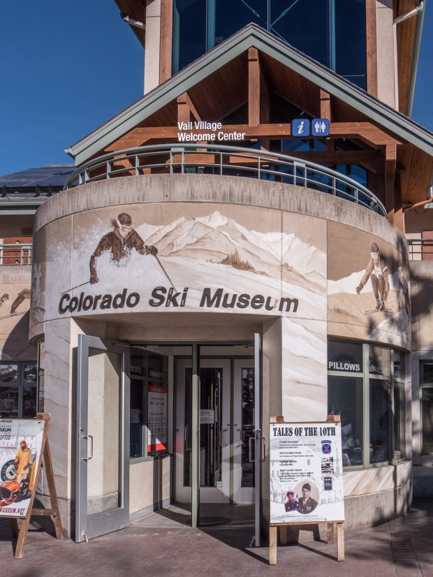 The Colorado Ski and Snowboard Museum sits below the Welcome Center in the Vail Village parking garage. Its galleries tell the story of skiing, snowboarding and ski racing in Colorado and there's a wall dedicated to the members of the Colorado Ski and Snowboard Hall of Fame.