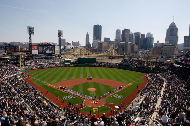 General view of PNC Park during ...