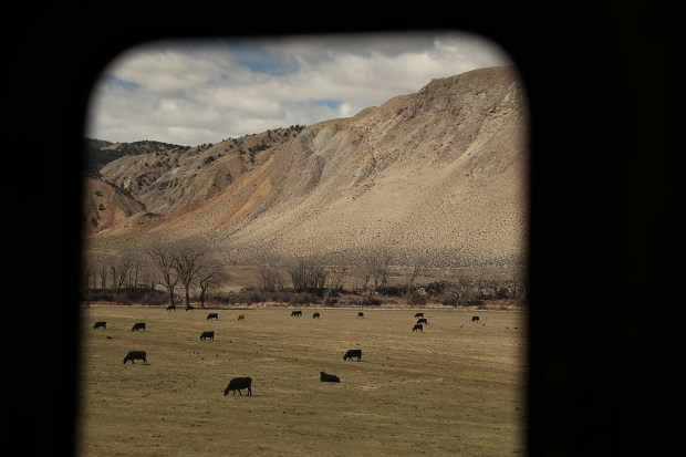Amtrak's California Zephyr passes a ranch ...