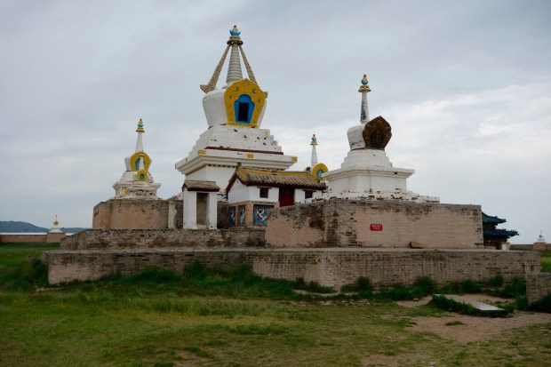 "The ""Golden Stupa"" at Erdene Zuu Monastery located in Kharkhorin, on the northern border of the Ovorkhangai province, Mongolia."