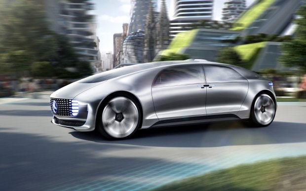 The Mercedes-Benz F 015 Luxury in Motion concept car will be fully autonomous and include wood floors.
