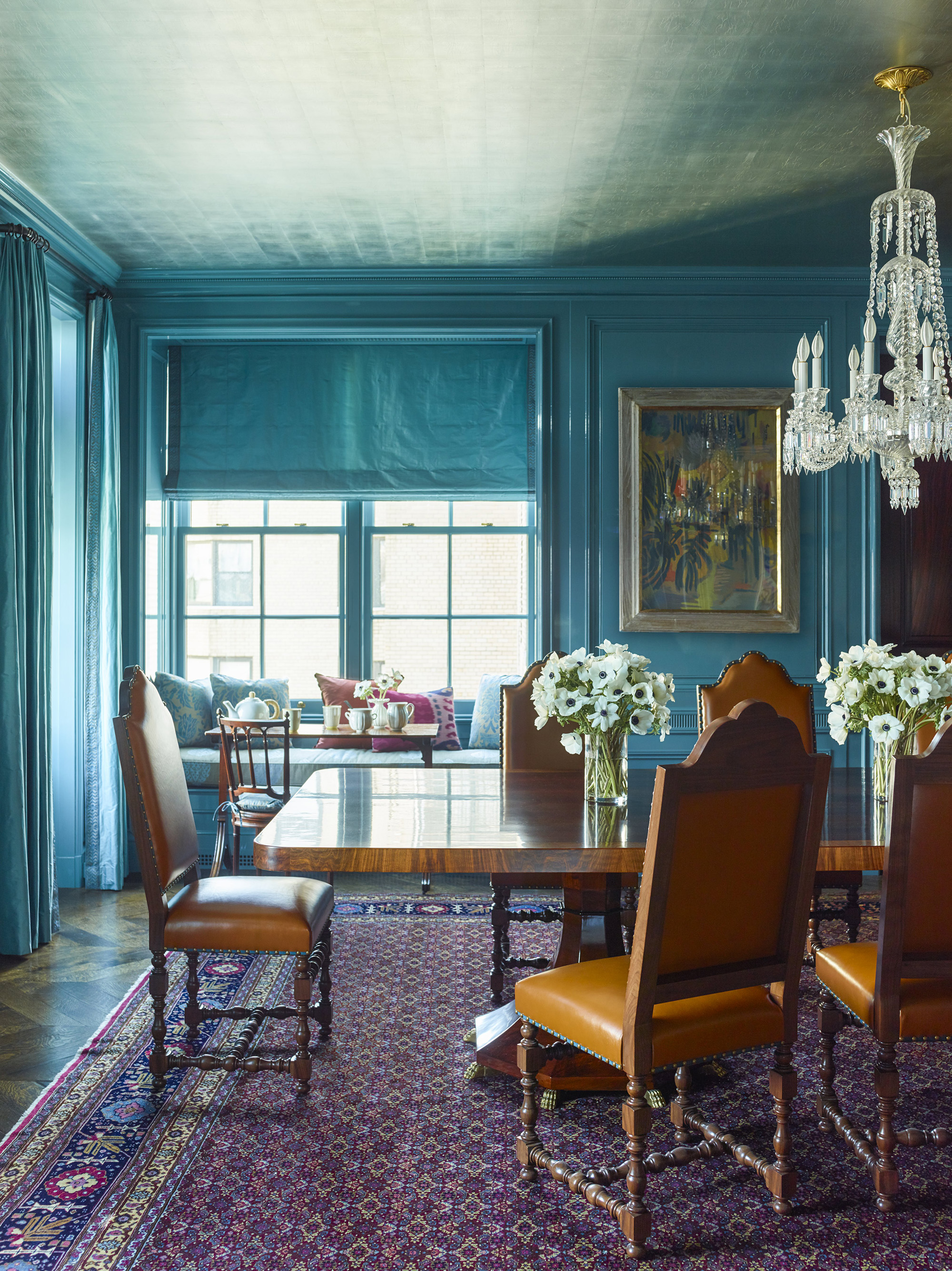 Ordinaire Katie Ridder Updates A Historic Apartment In Manhattan With Turquoise  Lacquered Walls And A Silver