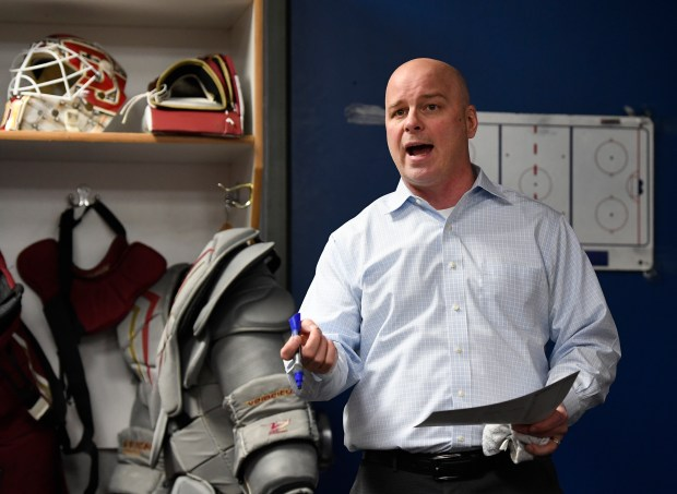 Denver Pioneers head hockey coach Jim ...
