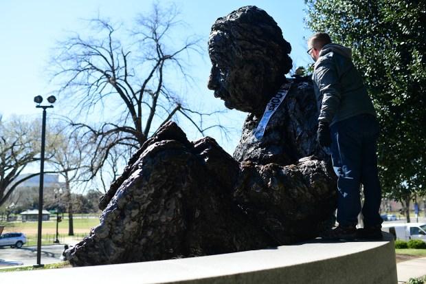 The Albert Einstein Memorial on March ...
