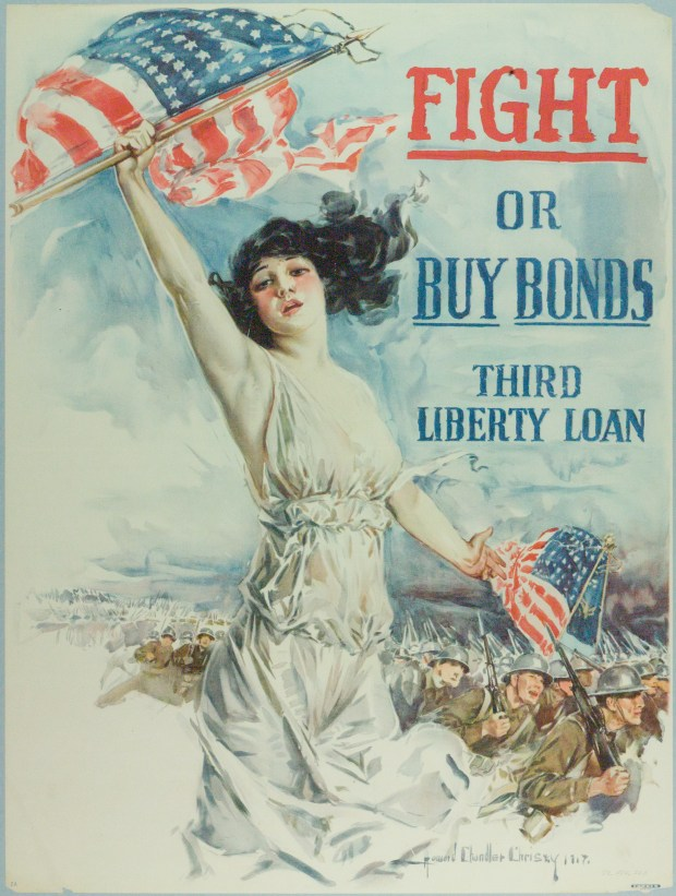 Fight or Buy Bonds, Third Liberty Loan, Howard Chandler Christy, 1917