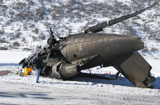 A photo of the crashed jet in January 2014. A final report on the wreck was released April 20, 2017.