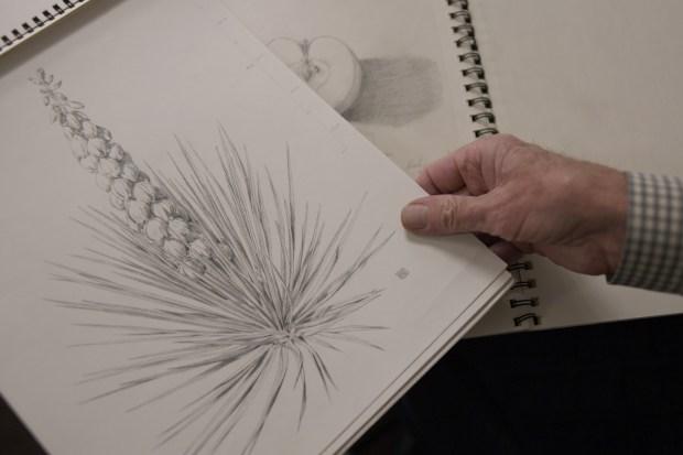 Randy Raak has sketch books, of ...