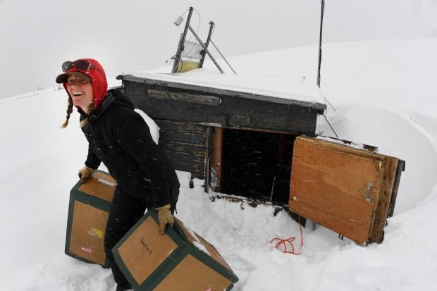 Jennifer Morse, a climate technician at ...
