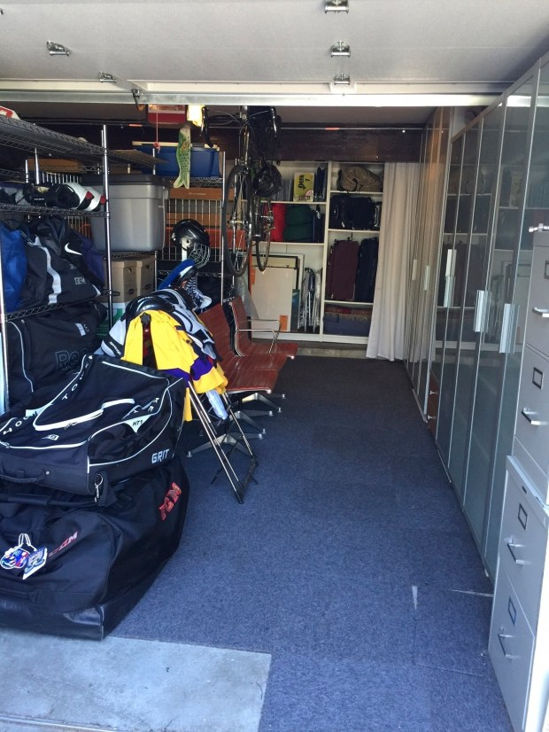 A garage organization project in Los Angeles, after being organized to the client's goals.