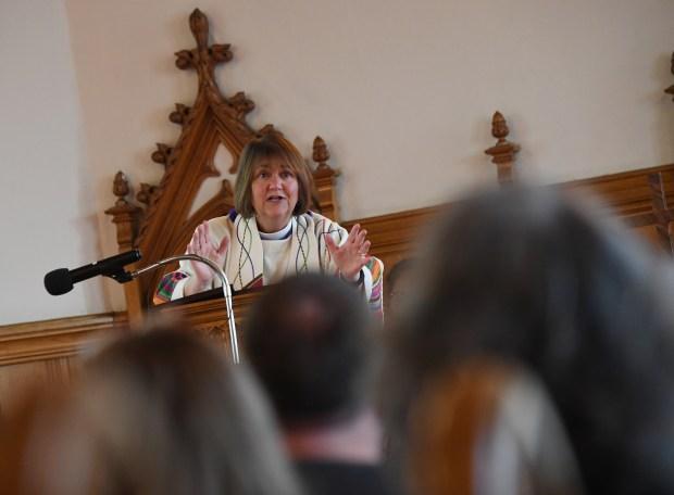Bishop Karen Oliveto spoke at Iliff ...