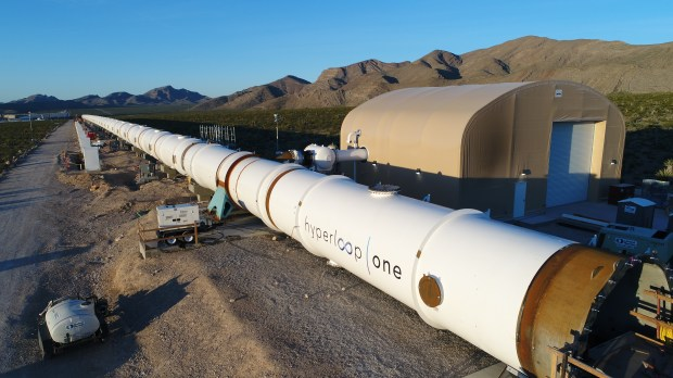Hyperloop One, the Los Angeles company exploring the development of routes, is building a test track in Las Vegas.