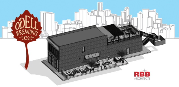A rendering of the Odell Brewing spot being built in RiNo. The brewery and taproom is expected to open in late 2017.