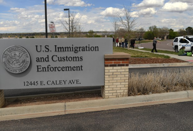 The Immigration and Customs Enforcement processing center in Centennial.