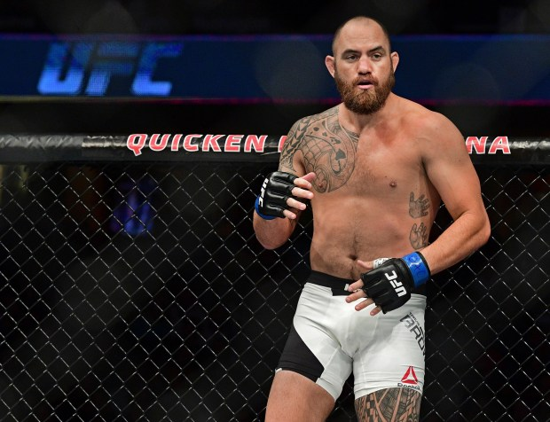 Travis Browne stands in his corner