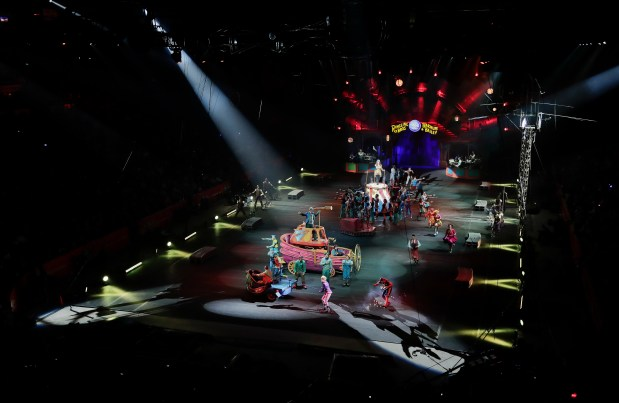 The red unit of Ringling Bros. ...