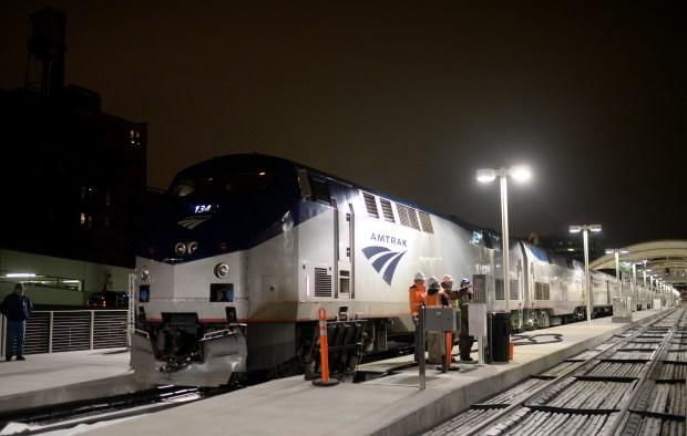 Amtrak's California Zephyr train stops at ...