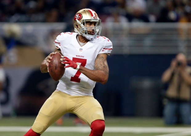 San Francisco 49ers quarterback Colin ...