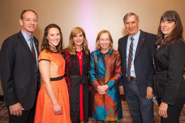 Mike Imhoff, Katie Imhoff, Patty Imhoff, Doris Kearns Goodwin, Dan J. Wilson and Michelle Travis.