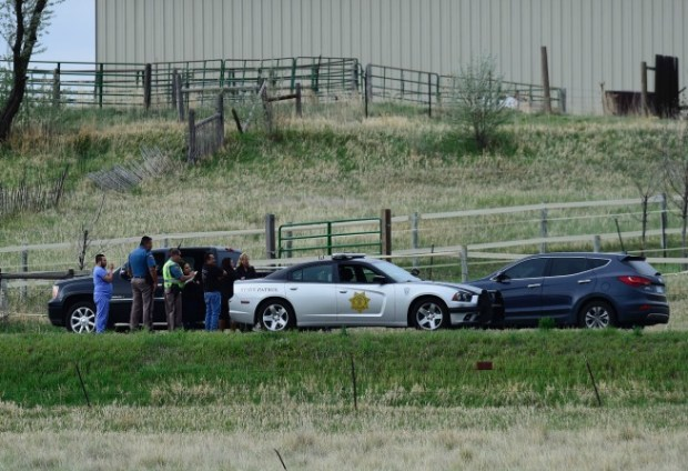 Colorado State Patrol on scene at 65th Street and Nelson Road on a crash that killed a cyclist this afternoon.