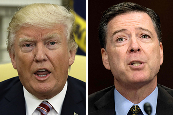 President Donald Trump and former FBI Director James Comey.