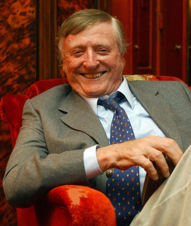 The late William F. Buckley Jr., who died in 2008, smiles during a 2004 interview at his home in New York.
