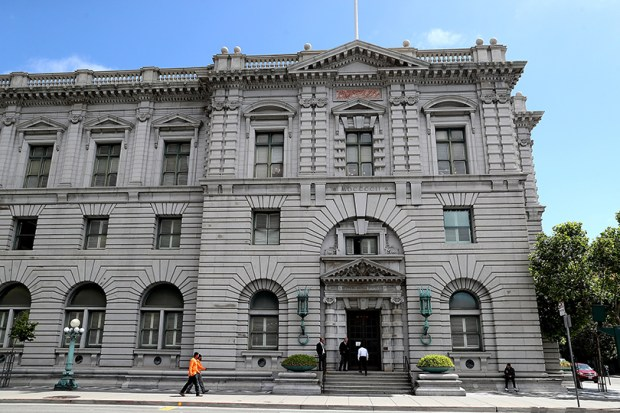 A three-judge panel of the Ninth U.S. Circuit Court of Appeals -- photographed Monday in San Francisco -- ruled against President Donald Trump's revised executive order limiting travel from six predominately Muslim countries.