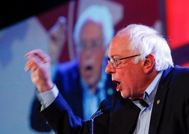 """U.S. Sen. Bernie Sanders speaks last Saturday in Chicago. During a confirmation hearing for Russell Vought, Donald Trump's pick to be deputy White House budget director, Sanders questioned something Vought wrote in a blog post last year. Vought claimed Muslims """"stand condemned"""" because they have rejected Jesus Christ."""