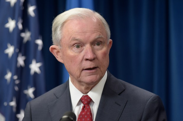 Attorney General Jeff Sessions speaks ...