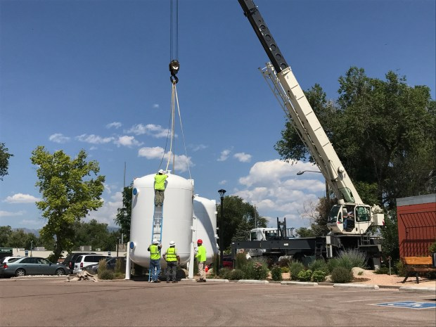 A water filter system being delivered ...