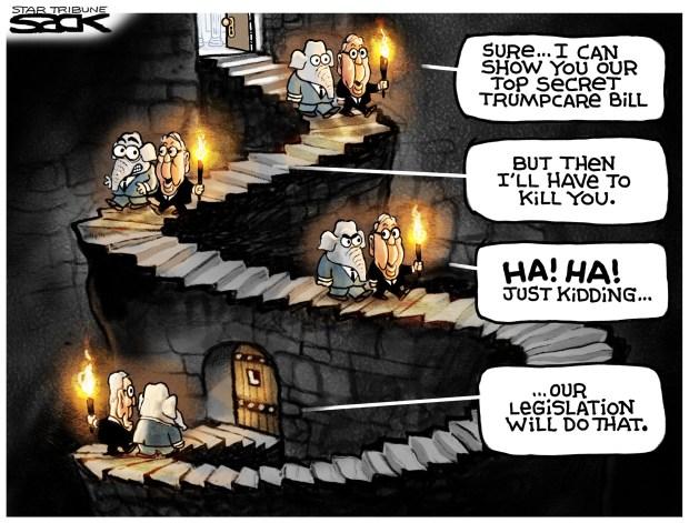 gop-senate-health-care-bill-cartoon-sack