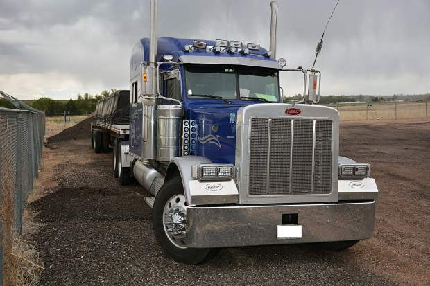 Weld County Sheriff's deputies say Nathan Combs, 49, May 18 was found dead near this 2007 Peterbilt 379 at the intersection of Weld County Roads 136 and 77, almost two miles from Hereford.