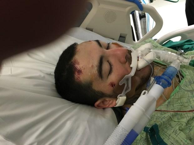 Donovan Duran after being paralyzed in La Junta in December 2015.
