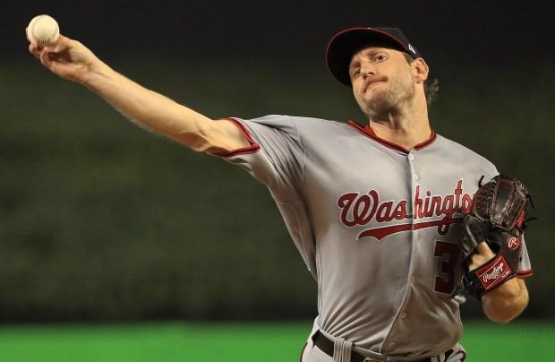 Max Scherzer #31 of the Washington ...